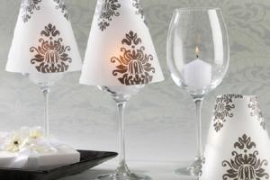 Направете уникатно декорирани чаши за вино