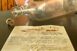 Порака во шише стара 76 години го најде патот до дома