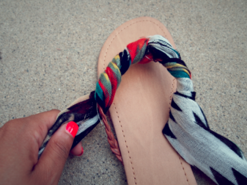 kako da napravite sandali, јадранки, сандали, марама, лето, leto, marama, sandali